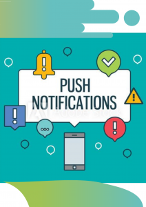 push notification features in app Mobile app development solutions